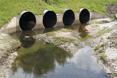 Drainage culvert Royalty Free Stock Images