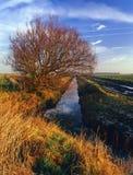 Drainage cut, Lancashire plain Stock Photos