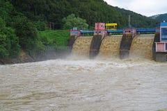 Drainage, dam flood Royalty Free Stock Photography