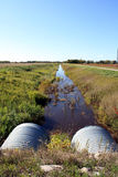 Drainage Ditch Stock Image