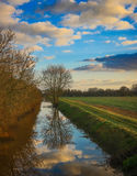 Drainage ditch. Royalty Free Stock Images