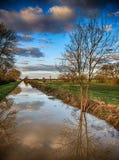 Drainage dyke. Royalty Free Stock Photo