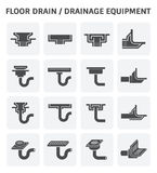 Drainage equipment icon. Floor drain or drainage equipment vector icon set Royalty Free Stock Image