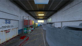 Drainage facility. 3D CG rendering of the drainage facility Royalty Free Stock Photos