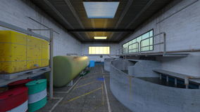 Drainage facility. 3D CG rendering of the drainage facility Stock Photos
