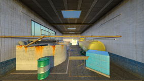 Drainage facility. 3D CG rendering of the drainage facility Royalty Free Stock Image