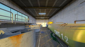 Drainage facility. 3D CG rendering of the drainage facility Stock Images