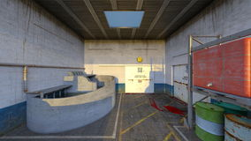 Drainage facility. 3D CG rendering of the drainage facility Stock Image