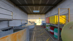 Drainage facility. 3D CG rendering of the drainage facility Royalty Free Stock Photo