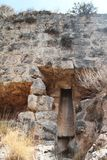 Drainage, Monfort Fortress, Israel. Drainage at Monfort crusaders fortress buildings Royalty Free Stock Photo