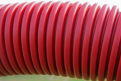 Drainage pipe. Close up of red drainage pipe Royalty Free Stock Image