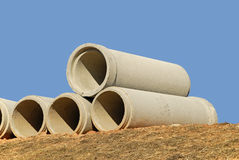 Drainage Pipe. Stack of Concrete Drainage Pipe Stock Images