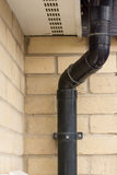 Drainage pipe, bend and clamp Royalty Free Stock Photo