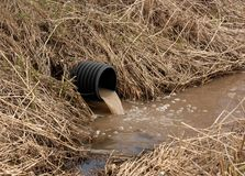 Drainage Pipe Royalty Free Stock Photos