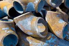 Drainage pipe metal. Pipe metal in a pile Stock Photography