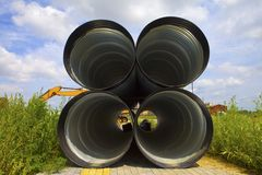 Drainage pipeline Royalty Free Stock Photography