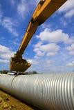 Drainage pipeline Stock Image