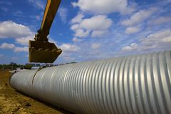 Drainage pipeline Stock Images