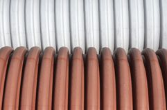 Drainage plastic pipes Stock Photos