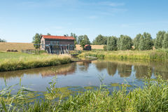 Drainage pumping station in the Netherlands. Stock Image