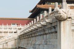 Drainagesysteem bij Verboden Stad in Peking, China stock foto's