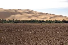 Drained lake, Libya. A drained lake in the desert of Libya, in Africa Stock Image