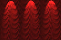 Drained, lowered the curtain Royalty Free Stock Images