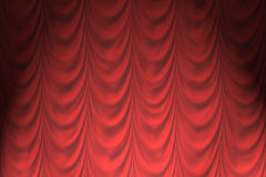 Drained, lowered the curtain Stock Images