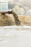 Draining mud water Stock Photo