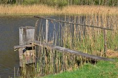 Draining the pond , South Bohemia Royalty Free Stock Images