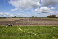 Draining a potato field Royalty Free Stock Photos