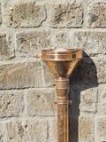 Drainpipe de cobre Fotos de archivo