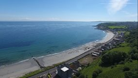 Drains bay beach Stock Photography