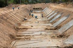 Drains de construction pour empêcher inondation Images libres de droits