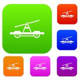 Draisine or handcar set collection Stock Photography