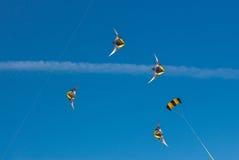 5 drakar i himlen Royaltyfri Bild