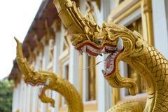 Drakar på en thailändsk tempel Arkivfoto
