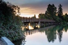Drake Bridge Sunset royalty free stock photography