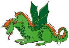 drake hövdade två Arkivfoton