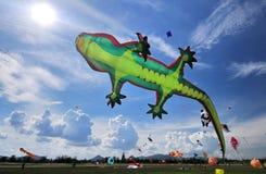 Drake och ballong Royaltyfri Foto