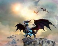 Drake på en illustration för klippaplats 3D Arkivfoto