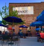 Drake Restaurant a Burlington Iowa Fotografia Stock Libera da Diritti