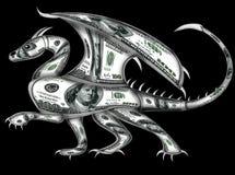 Drake som göras från dollar Royaltyfria Foton