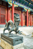 Drakebronsstaty - Forbidden City, Peking, Kina Arkivbild