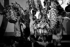 Drakedans för det mån- nya året i Veitnam royaltyfria bilder