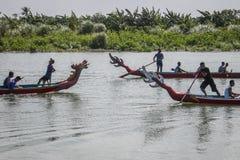 Drakefartygkonkurrens på yogyakertaen indonesia Arkivbild