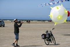 Drakefoto på stranden Royaltyfri Foto