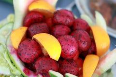 Drakefrukt & apelsin Royaltyfri Bild