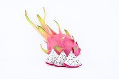 Drakefrukt på vitbakgrund Royaltyfria Bilder