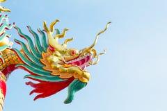 Drakehuvud på bakgrund för blå himmel Royaltyfri Foto